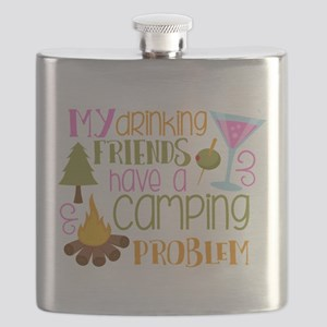 My Drinking Friends Have A Camping Problem Flask